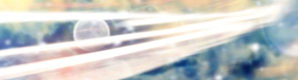 Abstrakt utrymmebakgrund med ljusa linjer Arkivfoton