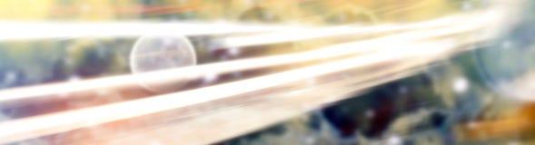Abstrakt utrymmebakgrund med ljusa linjer Royaltyfri Foto