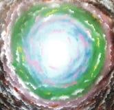 Abstrakt utrymmebakgrund med moln Arkivbild