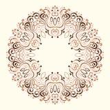 Abstrakt utsmyckad Mandala dekorativ designram Arkivbild