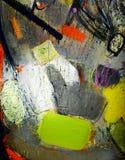 abstrakt uttrycksmålning Arkivfoton