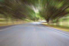 Abstrakt väg med rörelsesuddighet Arkivbild
