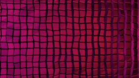 Abstrakt vägg av den organiska vägen för nivåinflyttning Rörelsen kretsas perfekt Abstrakt konstruktion som göras med kuber Arkivbilder