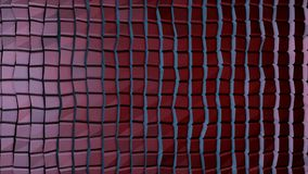 Abstrakt vägg av den organiska vägen för nivåinflyttning Rörelsen kretsas perfekt Abstrakt konstruktion som göras med kuber Royaltyfri Fotografi