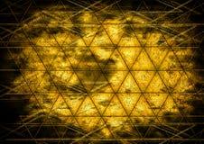 Abstrakt vägg för cocept för design för triangelbakgrundsfärg Fotografering för Bildbyråer