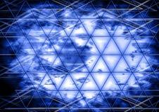 Abstrakt vägg för cocept för design för triangelbakgrundsfärg Arkivfoton