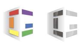 Abstrakt vägg för ` med panel`-logo Royaltyfri Bild