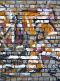 Abstrakt väggmålning royaltyfri bild