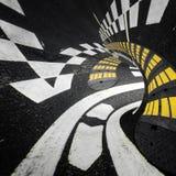 Abstrakt vägtunnel Arkivbilder
