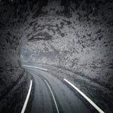 Abstrakt vägtunnel Arkivfoton