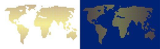 Abstrakt världskarta för guld vektor illustrationer
