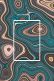 Abstrakt vätskebakgrunds- och designdiagram för affisch som är dynamiskt vektor illustrationer