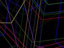 Abstrakt växelverkande färglinje Arkivbilder