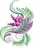 Abstrakt växt med bär Royaltyfria Bilder