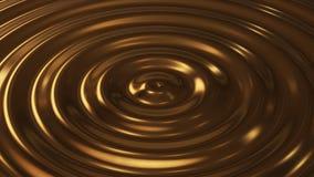 Abstrakt våg för öglaskrusningsguld 3d Royaltyfri Bild