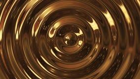 Abstrakt våg för öglaskrusningsguld 3d stock video