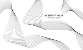 Abstrakt vågbeståndsdel för design Utjämnare för Digital frekvensspår Stiliserad linje konstbakgrund också vektor för coreldrawil Arkivfoto