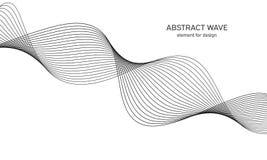Abstrakt vågbeståndsdel för design Utjämnare för Digital frekvensspår Stiliserad linje konstbakgrund också vektor för coreldrawil Arkivbilder