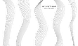 Abstrakt vågbeståndsdel för design Utjämnare för Digital frekvensspår Stiliserad linje konstbakgrund också vektor för coreldrawil Royaltyfria Bilder