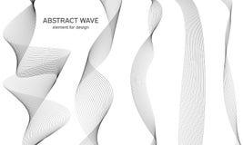 Abstrakt vågbeståndsdel för design Utjämnare för Digital frekvensspår Stiliserad linje konstbakgrund också vektor för coreldrawil Royaltyfri Foto