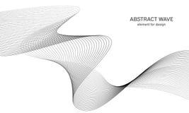 Abstrakt vågbeståndsdel för design Utjämnare för Digital frekvensspår Stiliserad linje konstbakgrund också vektor för coreldrawil Royaltyfri Fotografi
