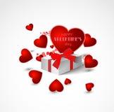 Abstrakt valentinbakgrund Arkivbilder