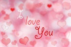Abstrakt valentinbakgrund royaltyfri bild