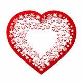 Abstrakt valentindesign med hjärta och blommor 2 Arkivbilder