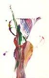 abstrakt vase Arkivfoton