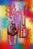 abstrakt vases Arkivfoto