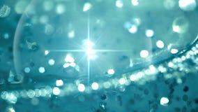 Abstrakt vatten med bubblor och lensesignalljuset skiner stock video