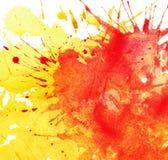 Abstrakt vattenfärg, färgpulverfärgstänk Arkivbilder