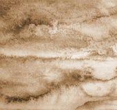 abstrakt vattenfärg för textur för bakgrundspapper I tonad sepia Arkivfoton