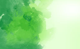 Abstrakt vattenfärg, grön målarfärg royaltyfri foto