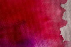Abstrakt vattenfärg på gammal pappers- texturbakgrund Arkivbilder