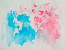 Abstrakt vattenfärg på gammal pappers- texturbakgrund Arkivfoto