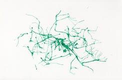 Abstrakt vattenfärg på papper Gröna neurons för bakgrund Fotografering för Bildbyråer