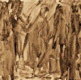 Abstrakt vattenfärg på pappers- textur som bakgrund I Sepiaton Royaltyfri Foto