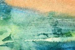 Abstrakt vattenfärgbakgrund Arkivbild