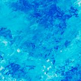 Abstrakt vattenfärgbakgrund med blåa modeller Arkivfoton