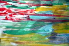 Abstrakt vattenfärgbakgrund på bränt papper Royaltyfri Fotografi