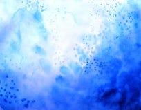 Abstrakt vattenfärgbakgrund, tapetlutningfärg, blått molnigt royaltyfri illustrationer