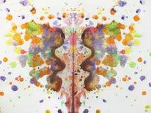 Abstrakt vattenfärgfjärilsteckning Royaltyfri Fotografi