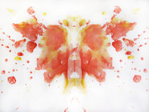 Abstrakt vattenfärgfjärilsteckning Royaltyfria Bilder