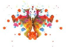 Abstrakt vattenfärgfjärilsteckning Arkivbild