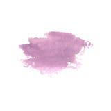 Abstrakt vattenfärgfläck Vattenfärgdesignbeståndsdel vattenfärg Royaltyfria Bilder