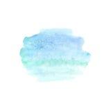 Abstrakt vattenfärgfläck Vattenfärgdesignbeståndsdel vattenfärg Arkivfoto