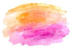 Abstrakt vattenfärghandmålarfärg på vit bakgrund vektor illustrationer