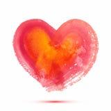 Abstrakt vattenfärghjärta för vektor för valentin dag eller bröllop Royaltyfria Foton