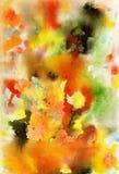 Abstrakt vattenfärgkonst målad bakgrundshand Royaltyfri Foto